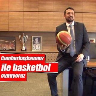 """Türkoğlu: """"Cumhurbaşkanımız ile basketbol oynuyoruz"""""""