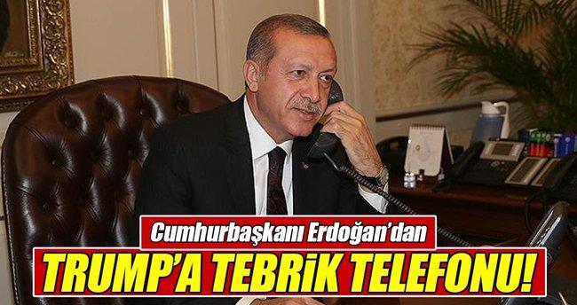Erdoğan'dan Trump'a tebrik telefonu!