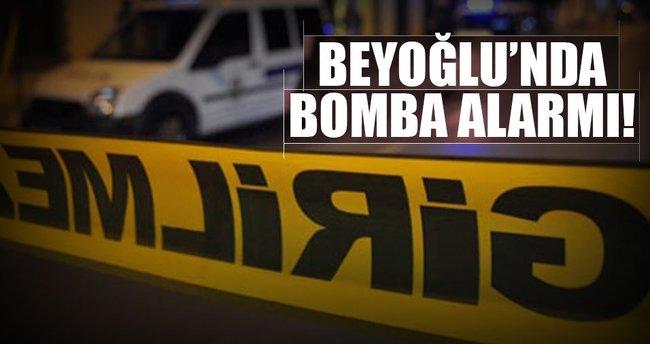 Beyoğlu'nda şüpheli araç alarmı!