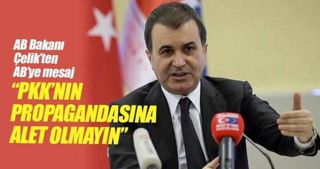 AB Bakanı Ömer Çelik: PKK'nın propagandasına alet olmayın