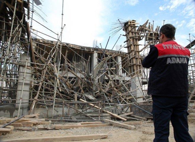Adana'da inşaatta göçük (25.11.2015)