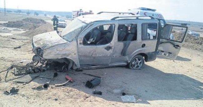 Şarampole devrilen aracın sürücüsü öldü