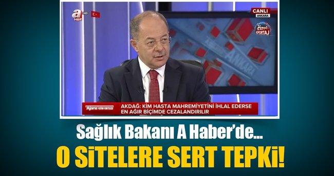 Sağlık Bakanı Akdağ o hemşire hakkında konuştu