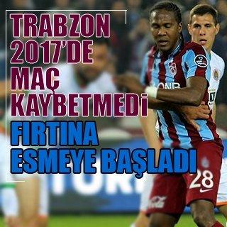 Trabzonspor, 2017'de kaybetmedi