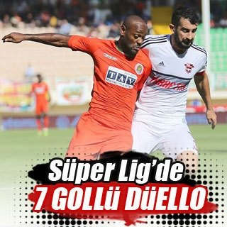 Alanyaspor - Gaziantepspor maçında 7 gol