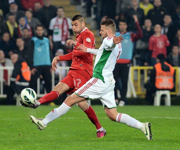 Türkiye-Macaristan maçından kareler