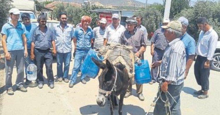 35 yıldır evlerine eşekle su taşıyorlar