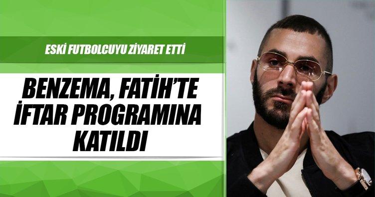 Benzema, Fatih'te iftar programına katıldı