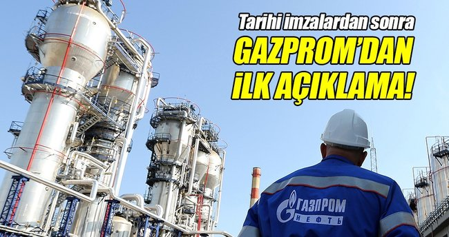 Gazprom'dan 'Türk Akımı' açıklaması!