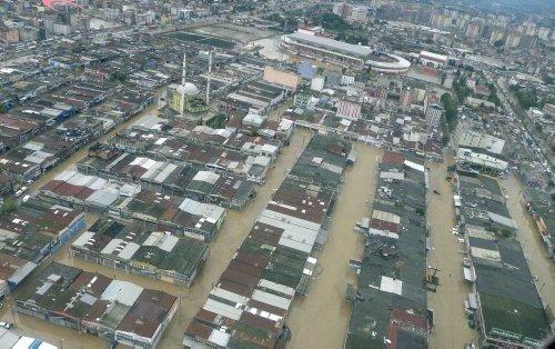 Samsun'daki sel faciasının havadan görüntüleri