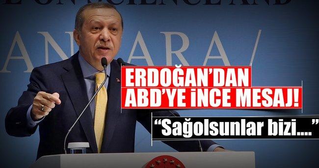 Cumhurbaşkanı Erdoğan'dan ABD'ye ince mesaj