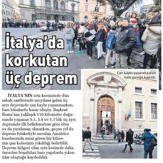 İtalya'da korkutan üç deprem