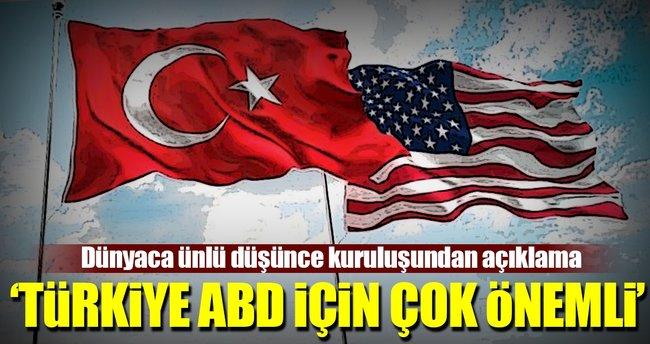 'Türkiye ABD için çok önemli'