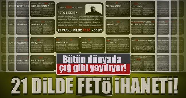 21 dilde FETÖ gerçeği yayımlandı