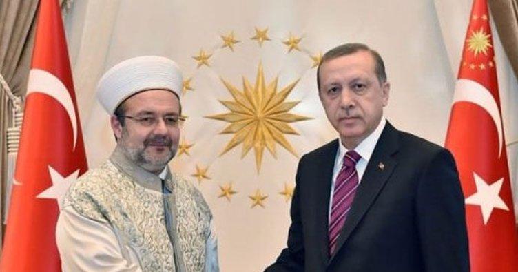 Cumhurbaşkanı Erdoğan, Görmez'i kabul etti