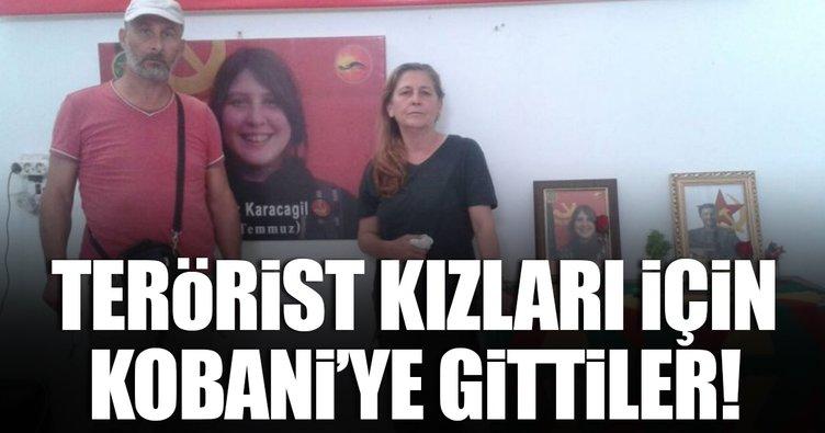 Kırmızı fularlı teröristin ailesi Kobani'ye gitti!