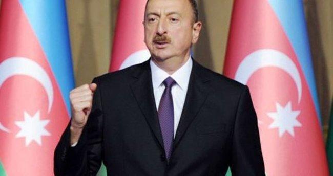 Aliyev: Azerbaycan halkının iradesini kırmak istiyorlar