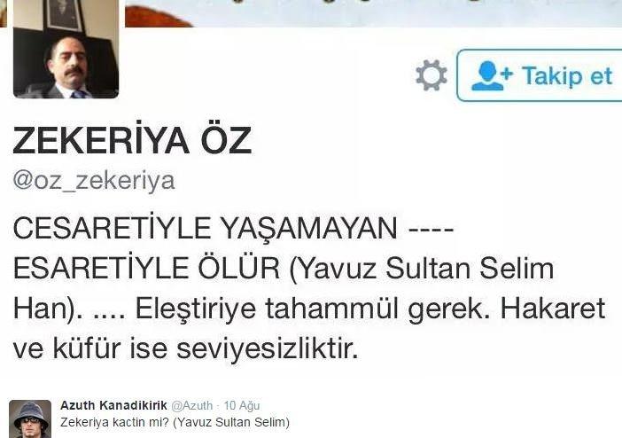 Twitter'da gündem Zekeriya Öz
