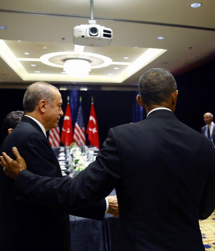 Erdoğan - Obama görüşmesinden kareler