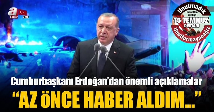 Son Dakika... Cumhurbaşkanı Erdoğan: Kürek değil, yürek meselesidir yürek!