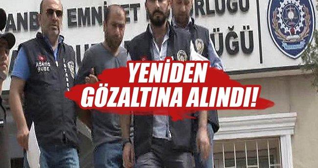 Tekmeci saldırgan yeniden gözaltına alındı