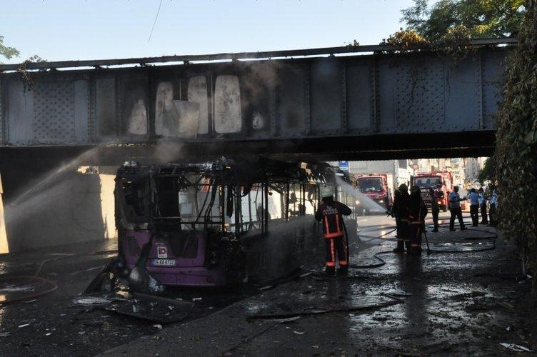 İETT otobüsünde şiddetli patlama