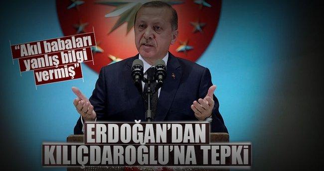 Erdoğan'dan Kılıçdaroğlu'na tepki