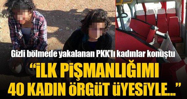 Minibüsün gizli bölmesinde yakalanan teröristin pişmanlığı iddianamede