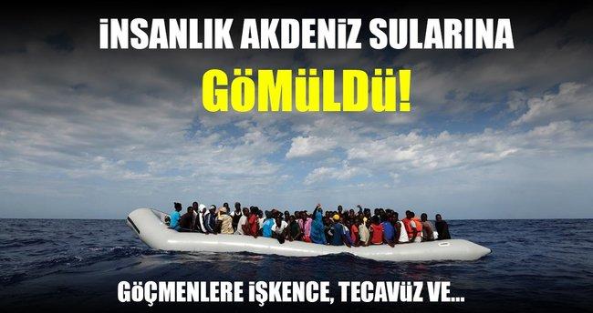 Kaçak göç yolunda göçmenlere insanlık dışı muamele