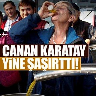 Canan Karatay zeytinyağını böyle içti