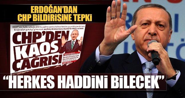 Cumhurbaşkanı Erdoğan: Herkes haddini bilecek