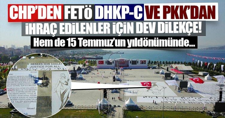 CHP'den FETÖ, DHKP-C ve PKK'dan ihraç edilenler için dev dilekçe