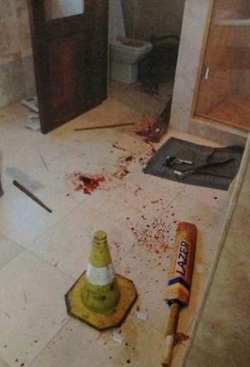 Pistorius cinayetinin olay yeri fotoğrafları