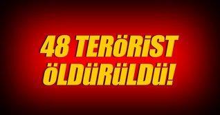 Kerkük'te 48 DEAŞ'li terörist öldürüldü