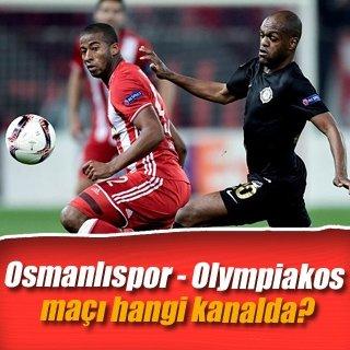 Osmanlıspor - Olympiakos maçı ne zaman saat kaçta hangi kanalda canlı yayınlanacak?