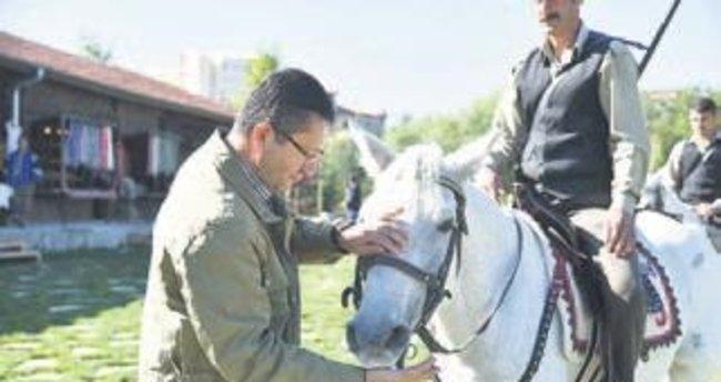 Karacaya süt, atlara şeker verdi