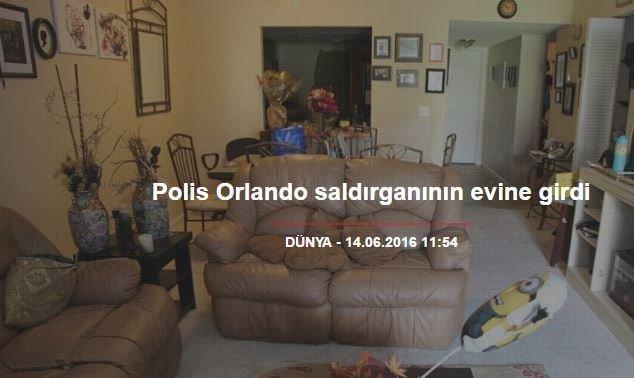 Polis Orlando saldırganının evine girdi