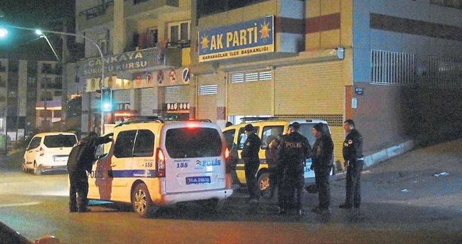 İzmir'de AK Parti ilçe binasına silahlı saldırı