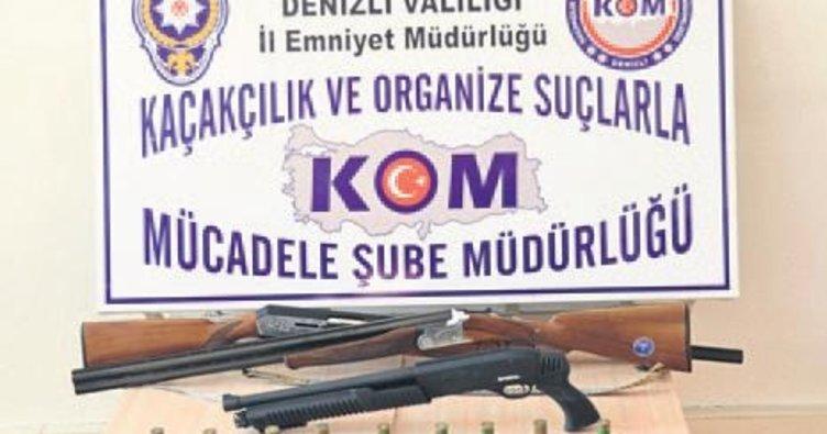 Denizli'de silahlı çeteye 7 tutuklama