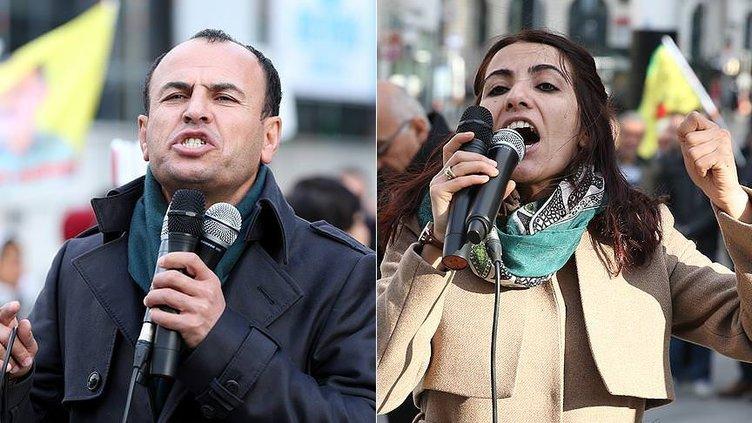 Kaçak HDP'liler Brüksel'de PKK'lıların gösterisinde görüntülendi!