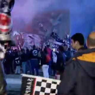Beşiktaş Çarşı`da şampiyonluk coşkusu