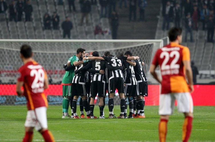 Beşiktaş-Galatasaray derbisinden kareler