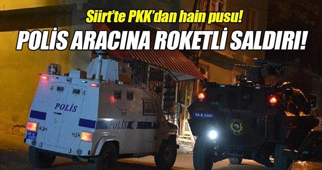 Siirt'te polis aracına roketli saldırı!