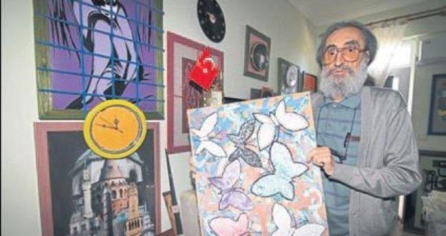 Huzurevindeki odasını sanat atölyesine çevirdi