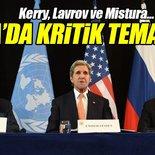 Kerry Roma'da Lavrov ve Mistura ile görüştü!