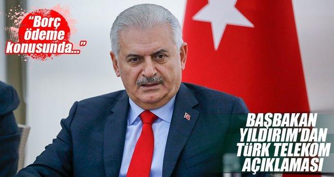Başbakan Yıldırım'dan Türk Telekom açıklaması