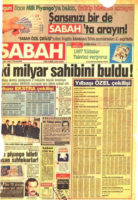 Yılın ilk SABAH'ları