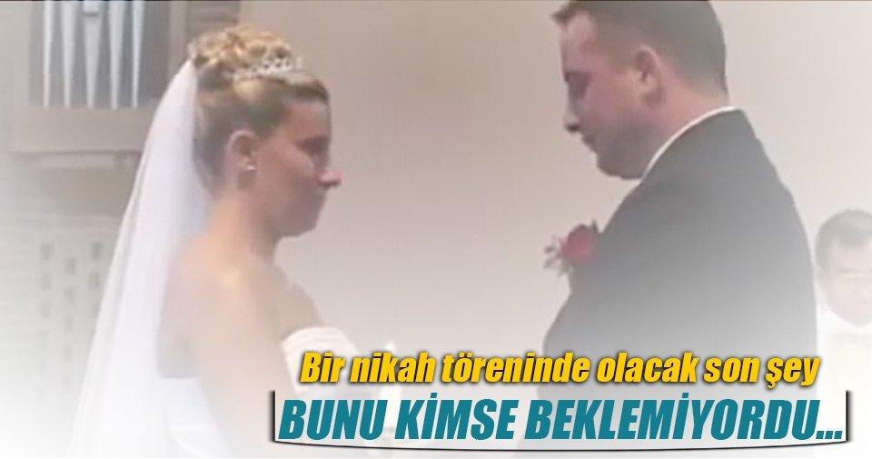 Bir nikah töreninde olacak son şey