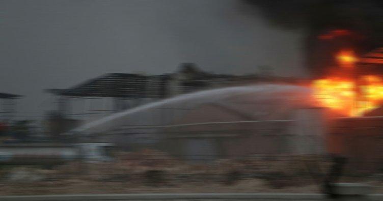 Bursa tekstil fabrikasında yangın