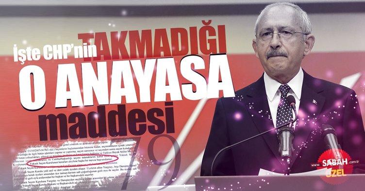 CHP Anayasa Mahkemesine giderek anayasayı ihlal etti!